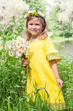 Модное детское платье из натуральной ткани  (ДП22-253)