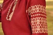 Безупречная вышитая блуза цвета марсала (Ж35-264)