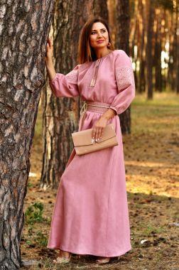 Ніжне рожеве плаття з вишивкою для особливих випадків (П16 / 7-276)