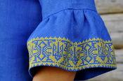 Очаровательное платье-мини с вышивкой и воланами на рукавах (П22/1-293)