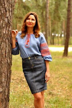 Оригинальная женская вышиванка безупречного качества (Ж35-272)